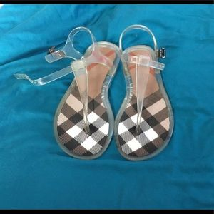 BURBERRY JUNIOR GIRL JELLY SANDALS